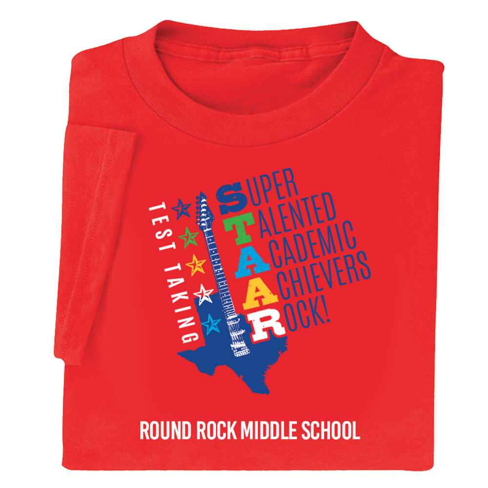 Test Taking STAAR Adult Positive T-Shirt - Personalization Available