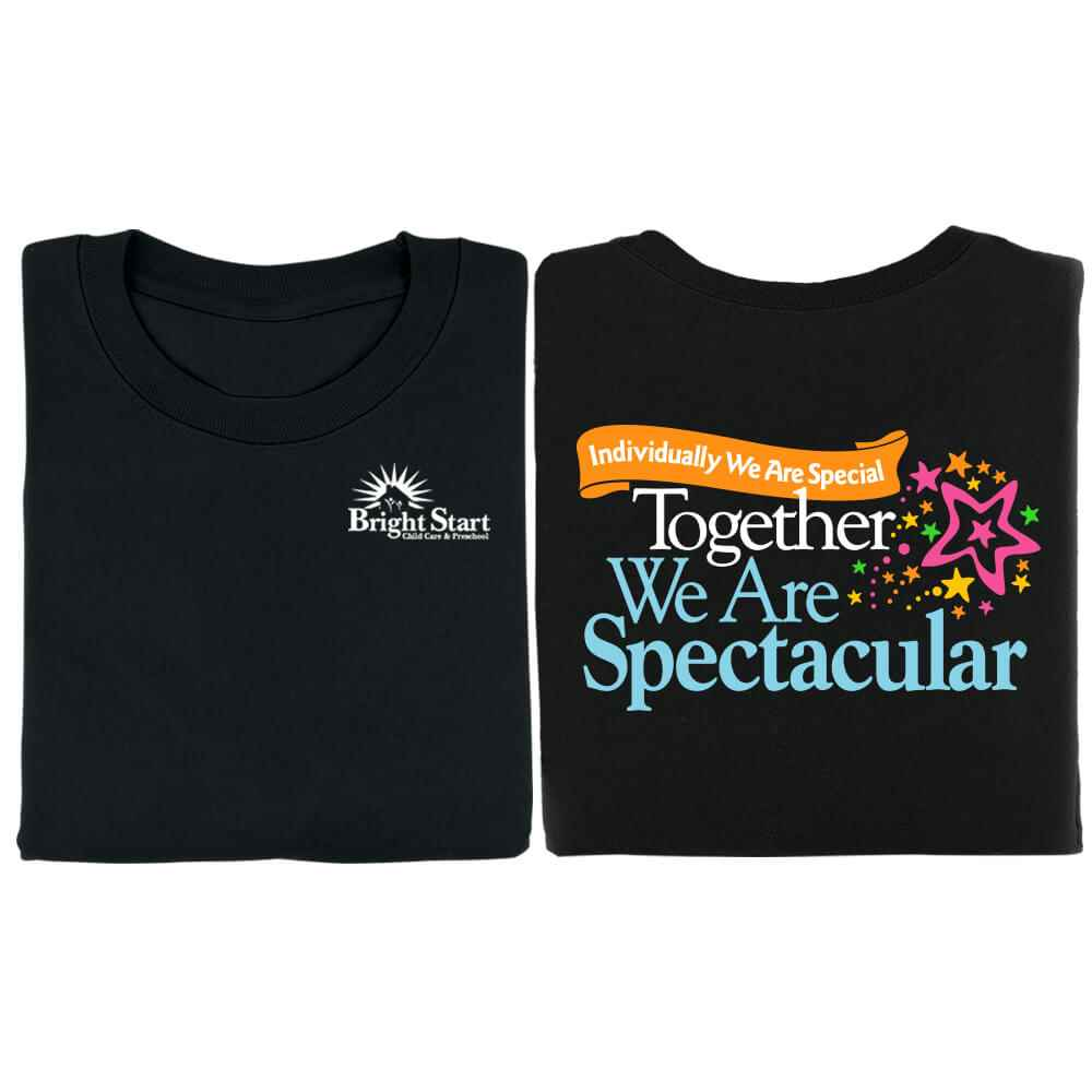 Individually We Are Special, Together We Are Spectacular 2-Sided Black T-Shirt - Personalized