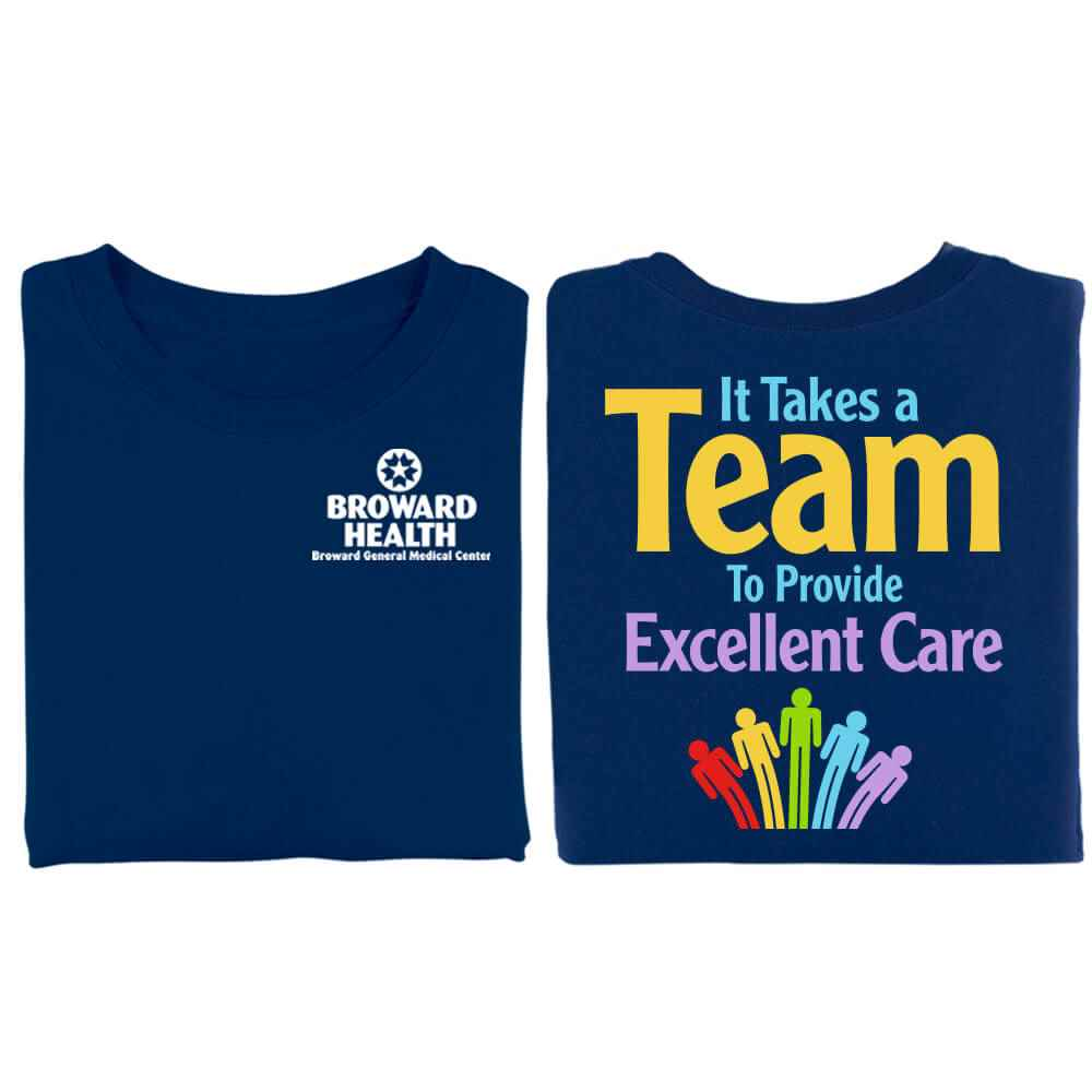 It Takes A Team To Provide Excellent Care Two-Sided Short-Sleeve T-Shirt - Personalization Available