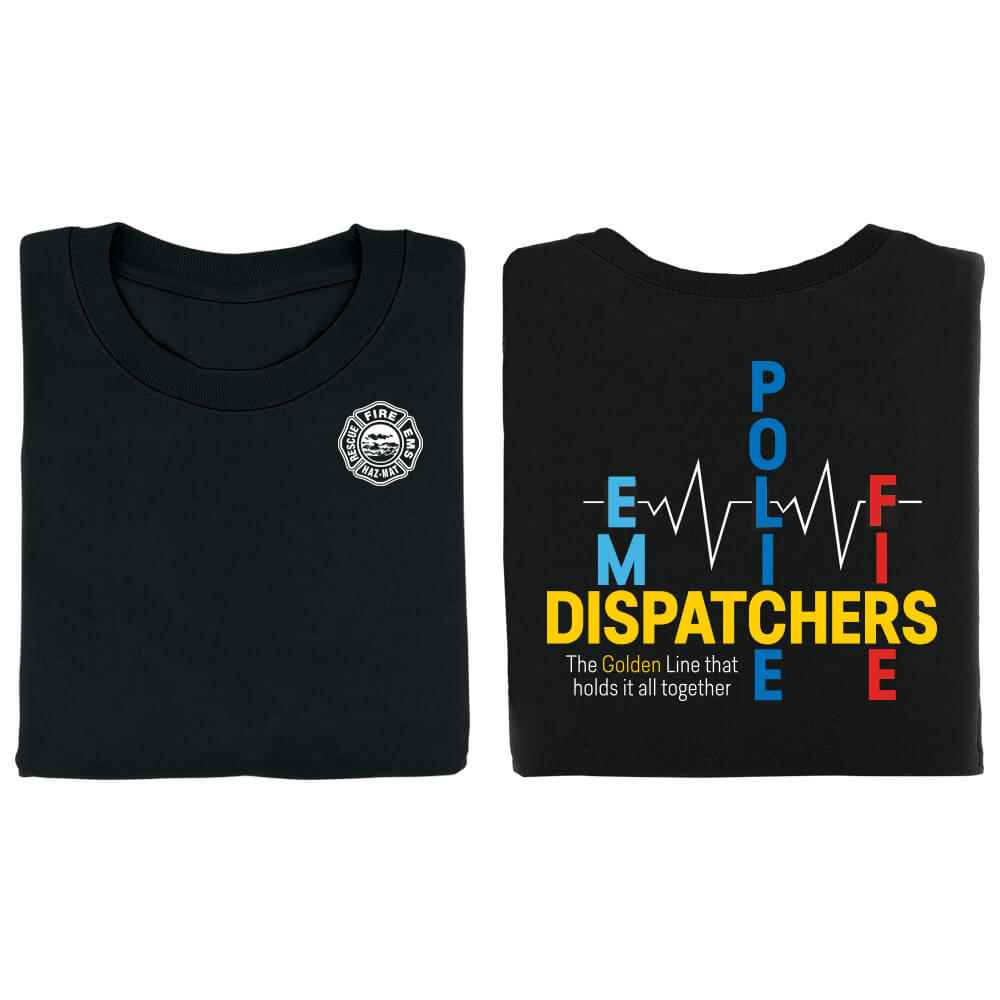 Dispatchers: The Golden Line That Holds It All Together Short-Sleeve 2-Sided T-Shirt - Personalized