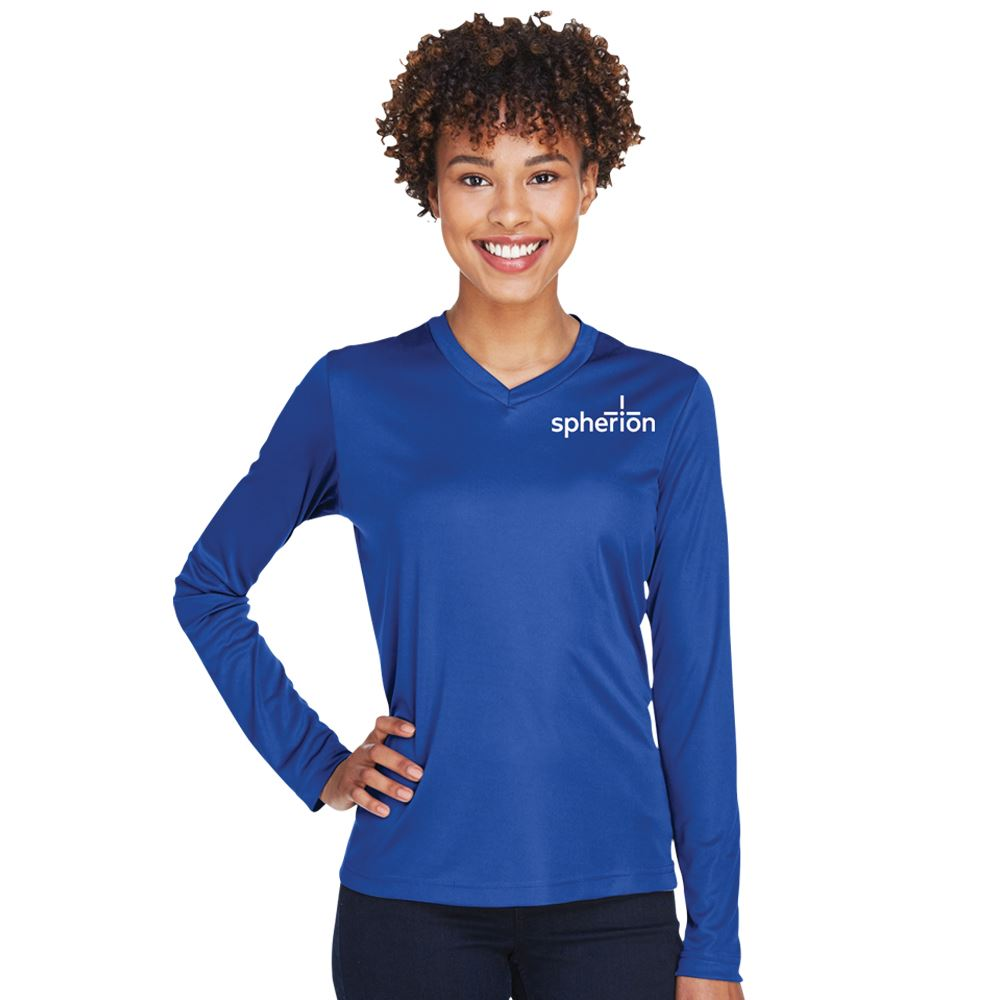 Team 365™ Women's V-Neck Zone Performance Long-Sleeve Tee - Personalization Available