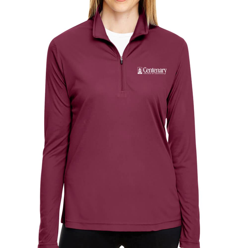 Team 365® Ladies' Zone Performance Quarter-Zip - Personalization Available