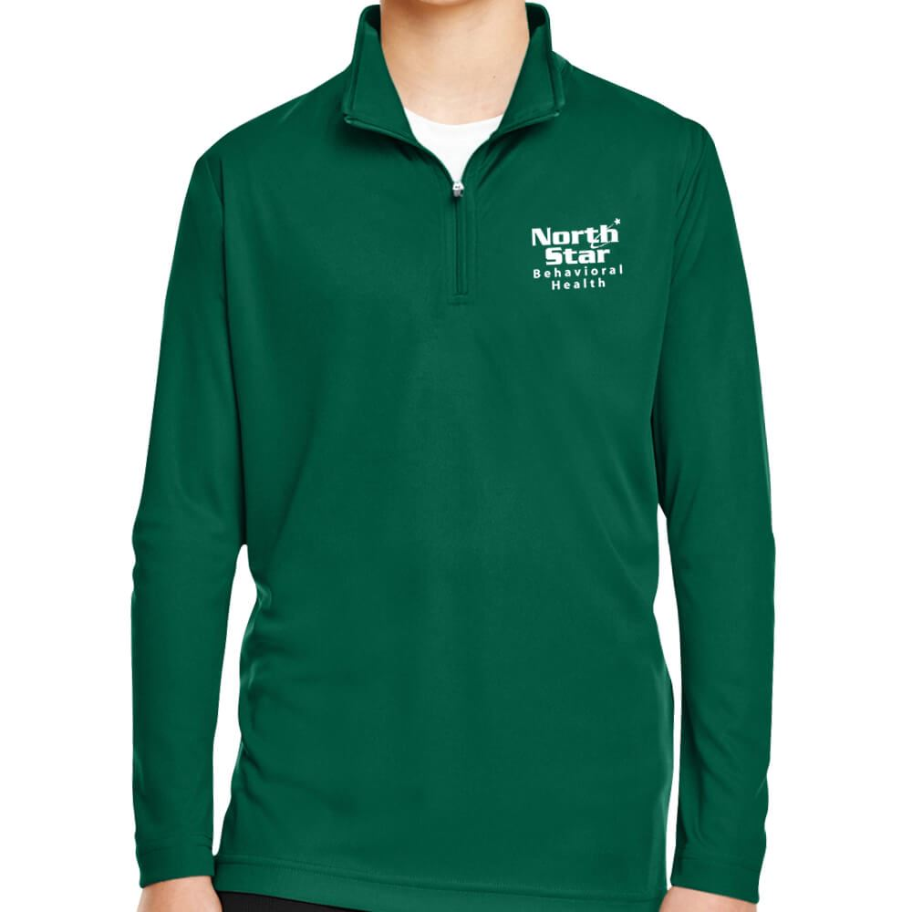 Team 365® Youth Zone Performance Quarter-Zip - Silkscreen Personalization Available