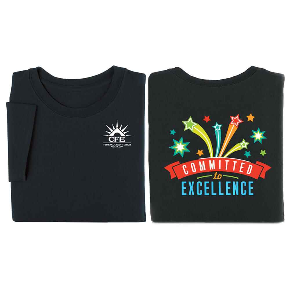 Short Sleeve 2-Sided T-Shirts - Personalization Available