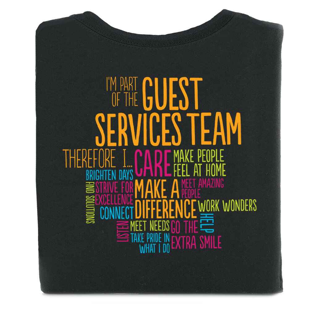 I'm Part of the Guest Services Team Word Cloud Short-Sleeve 2-Sided T-Shirt - Personalized