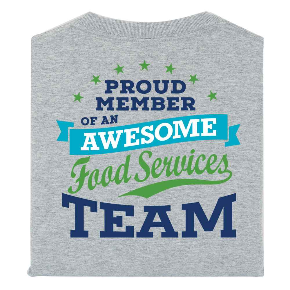 Proud Member Of An Awesome Food Services Team 2-Sided Short Sleeve T-Shirt - Personalized