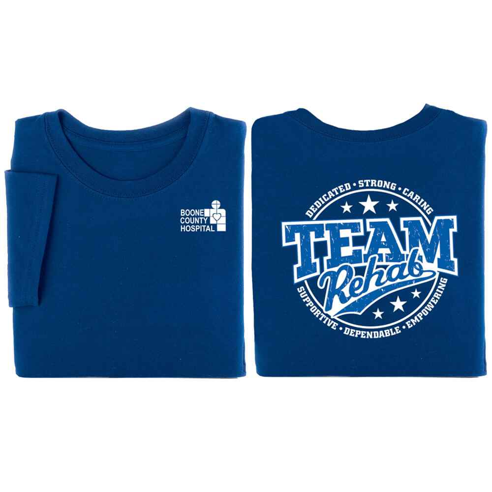 Team Rehab + Attributes Two-Sided Short Sleeve T-Shirt - Personalized
