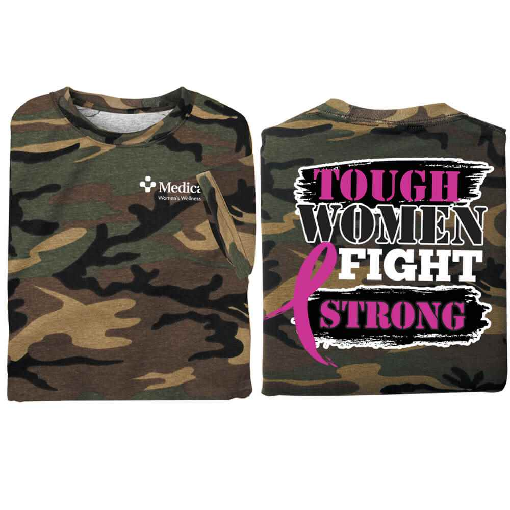 Tough Women Fight Strong Two-Sided Awareness T-Shirt - Personalization Available