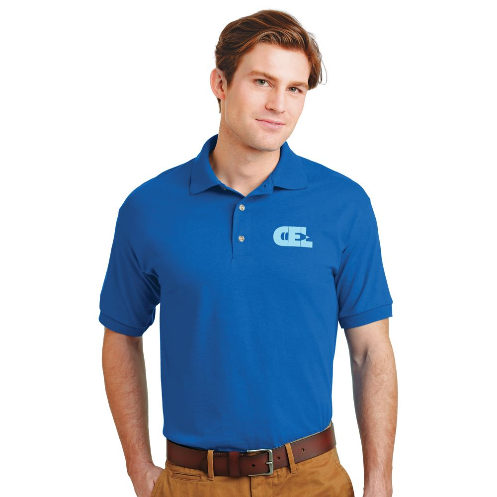 GIldan® 50/50 Jersey Polo: Popular Colors - Screenprinted Personalization Available