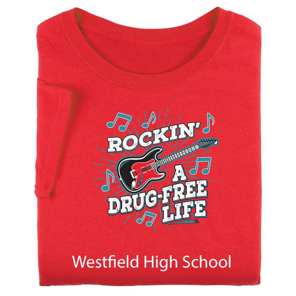 Rockin' A Drug-Free Life Youth T-Shirt - Personalized