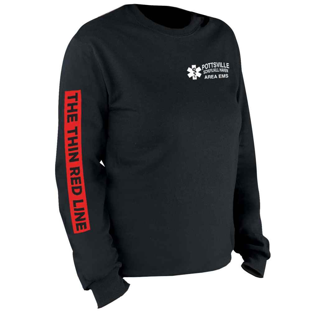The Thin Red Line Long Sleeve T-Shirt - Personalized