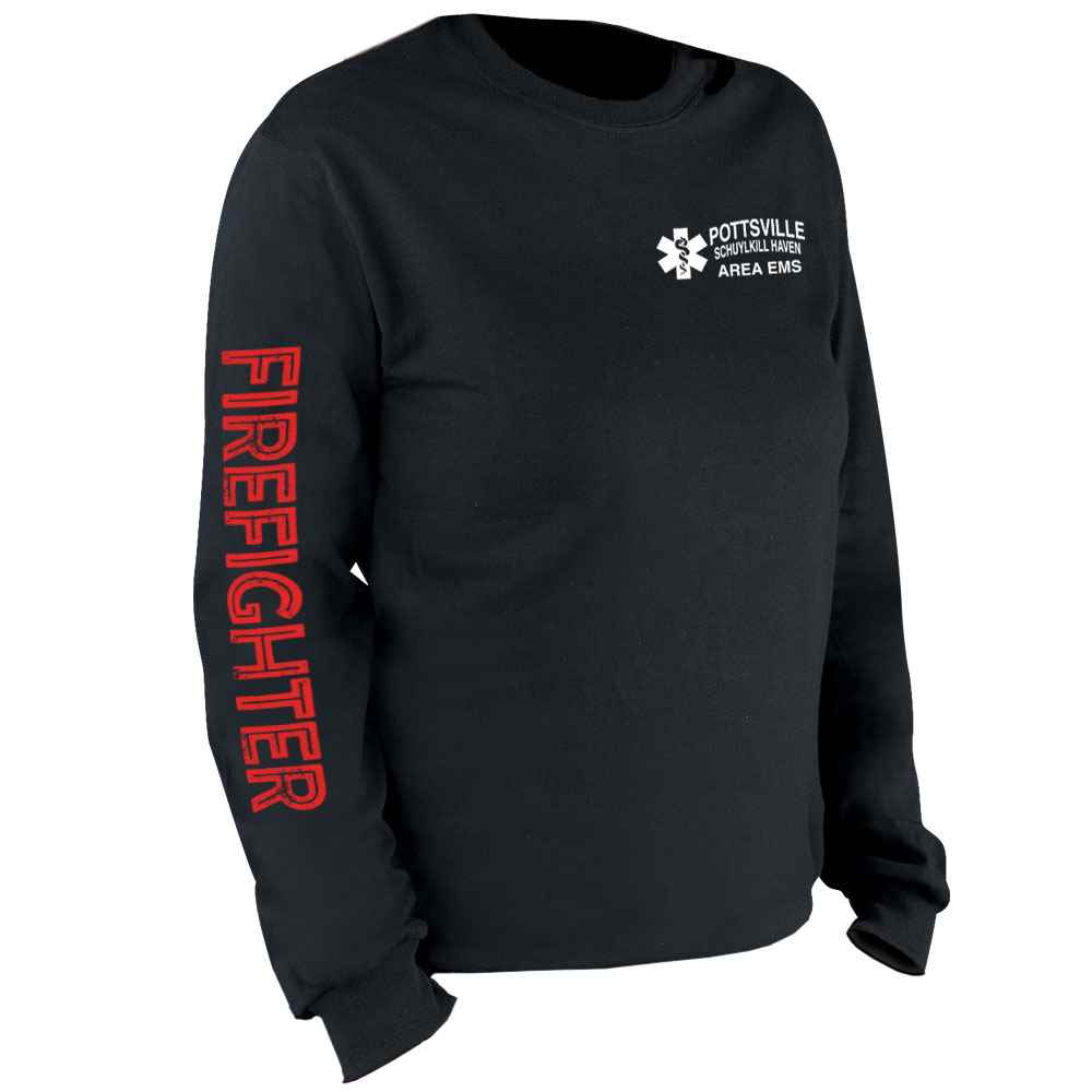 Firefighter Long Sleeve T-Shirt - Personalized