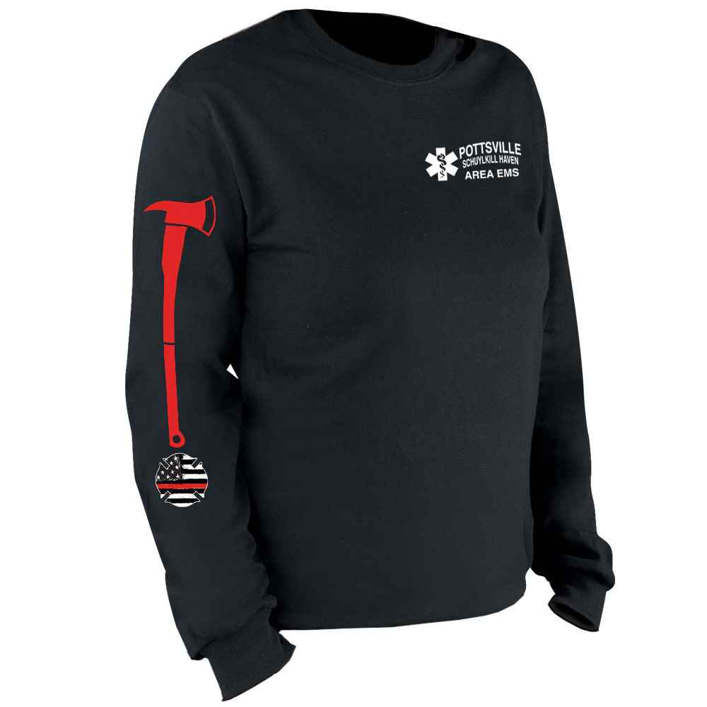 Long Red Ax Long Sleeve T-Shirt - Personalized