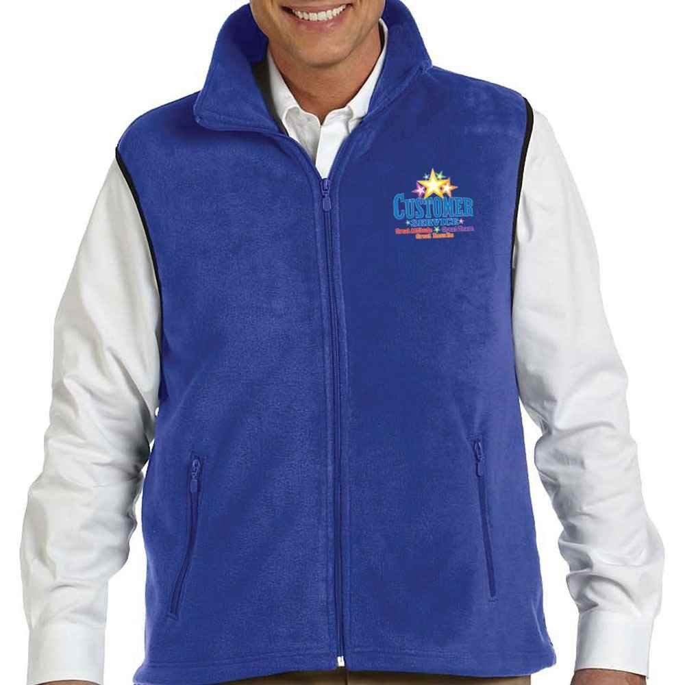 Customer Service Harriton® Unisex Fleece Vest - Personalization Available