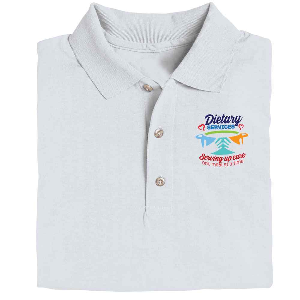 Healthcare Food Service Gildan® Dryblend Jersey Polo - Personalization Available