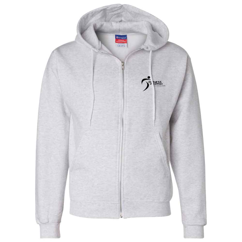Champion® Double Dry Eco Full-Zip Hooded Sweatshirt - Silkscreen Personalization Available