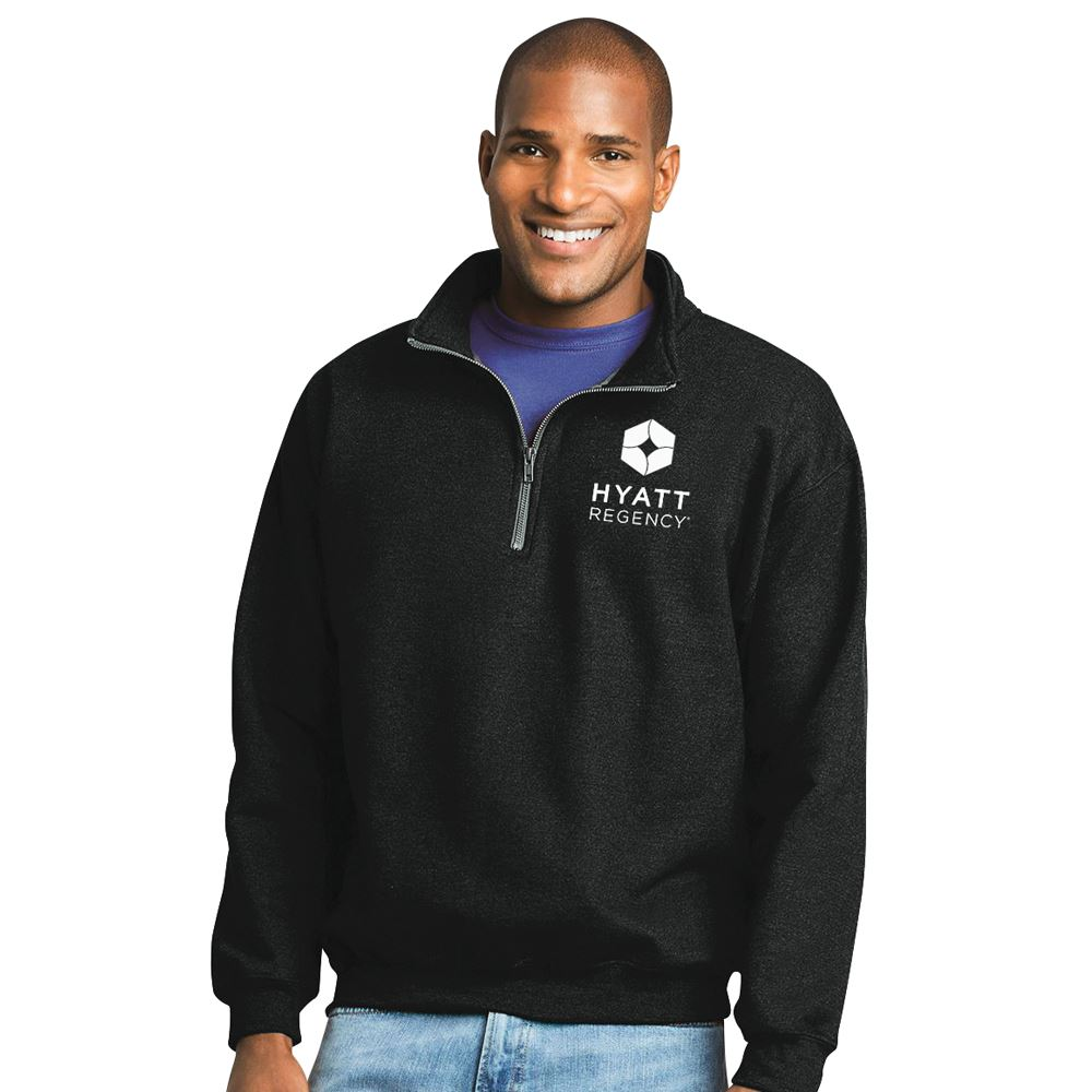 Gildan® Heavy Blend™ Quarter-Zip Cadet Collar Sweatshirt - Silkscreen Personalization Available