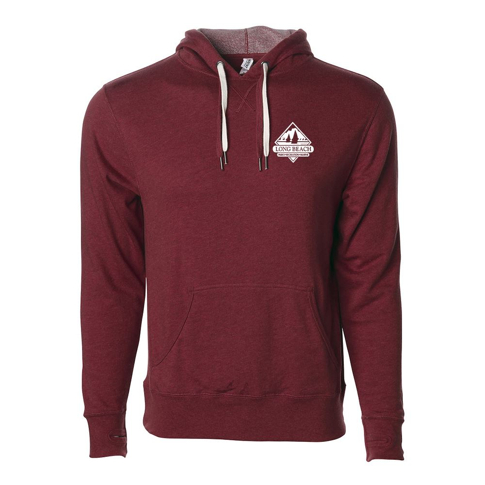 Independent Trading Co.® Unisex Heather French Terry Hooded Pullover - Silkscreen Personalization Available