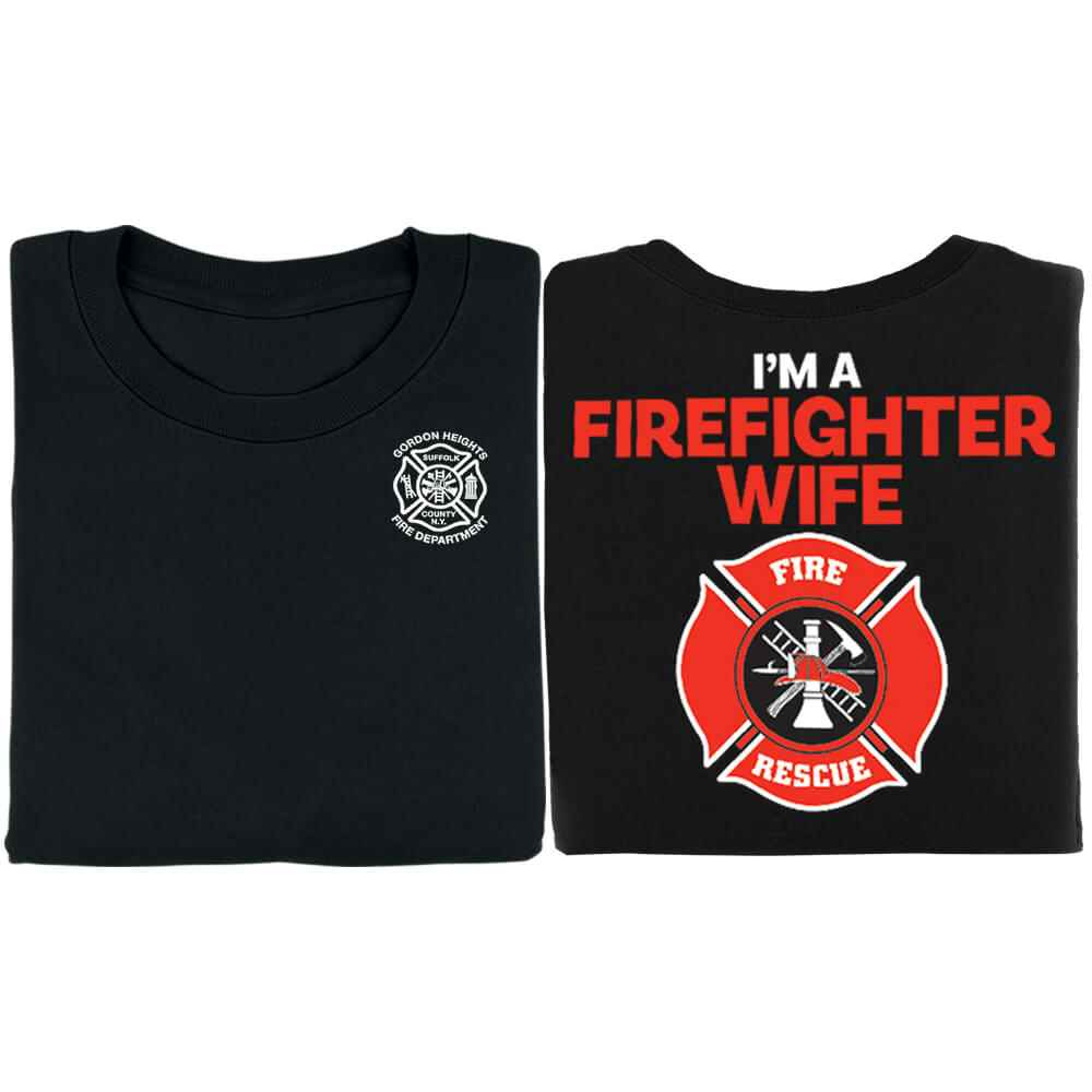 I'm A Firefighter Wife Bragging Rights Women's Cut Short-Sleeve T-Shirt - Personalized