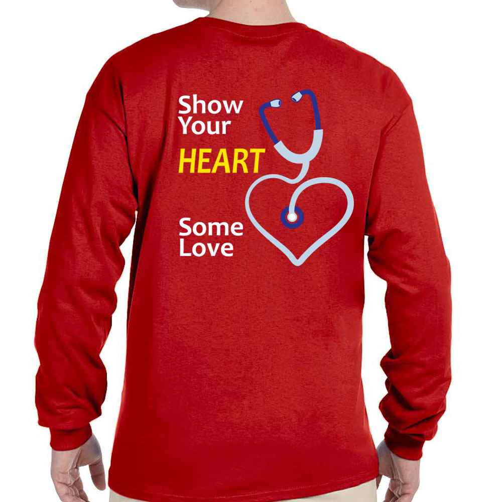 Show Your Heart Some Love Positive 2-Sided Long-Sleeve T-Shirt - Personalized