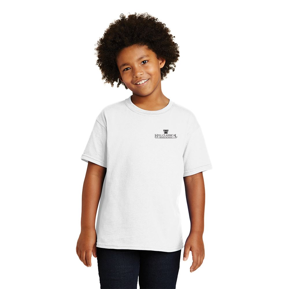 Gildan® Heavy Cotton Youth T-Shirt: White - Personalization Available