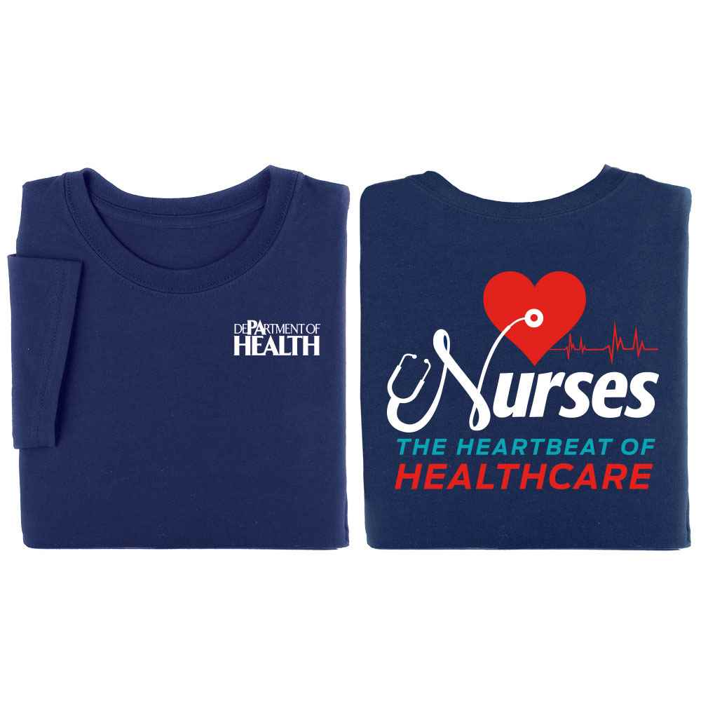 Nurses: The Heartbeat Of Healthcare Two-Sided Short-Sleeve T-Shirt