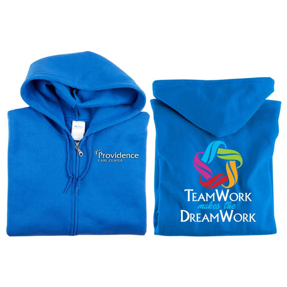 Teamwork Makes The Dream Work Full-Zip Hooded Sweatshirt - Personalization Available