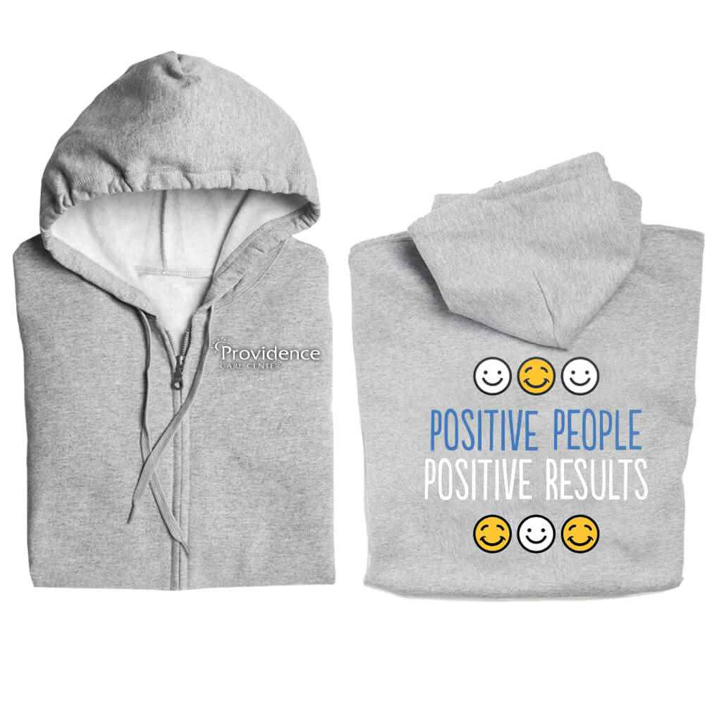 Positive People, Positive Results Full-Zip Hooded Sweatshirt - Personalized