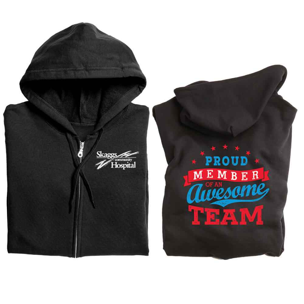 Proud Member Of An Awesome Team Full-Zip Hooded Sweatshirt - Personalization Available