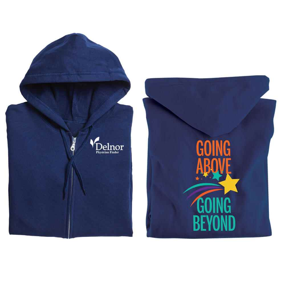 Going Above, Going Beyond Full-Zip Hooded Sweatshirt - Personalization Available
