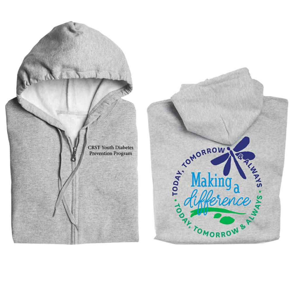 Making A Difference Today, Tomorrow & Always Full-Zip Hooded Sweatshirt - Personalized