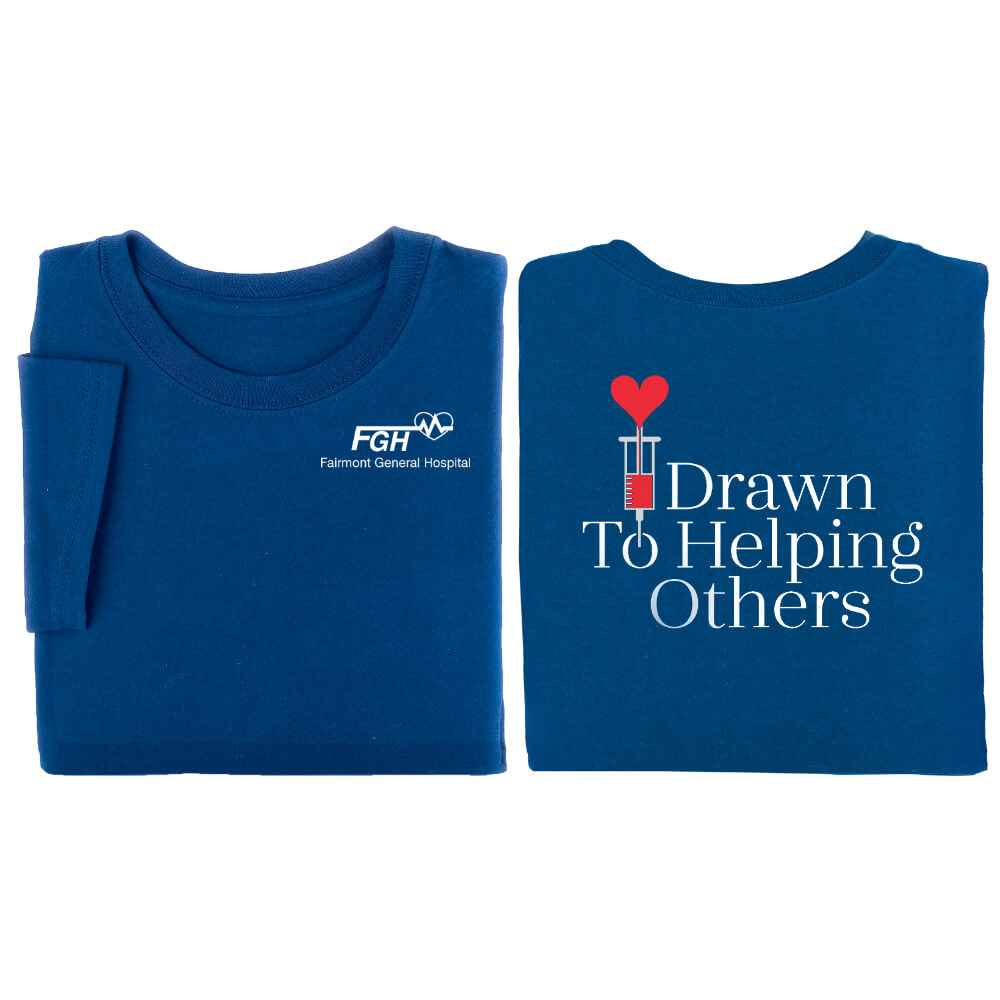 Drawn To Helping Others Short-Sleeve Two-Sided T-Shirt - Personalization Available