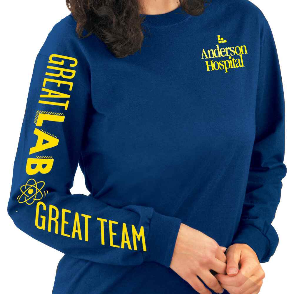 Great Lab, Great Team Long-Sleeve Recognition T-Shirt - Personalization Available