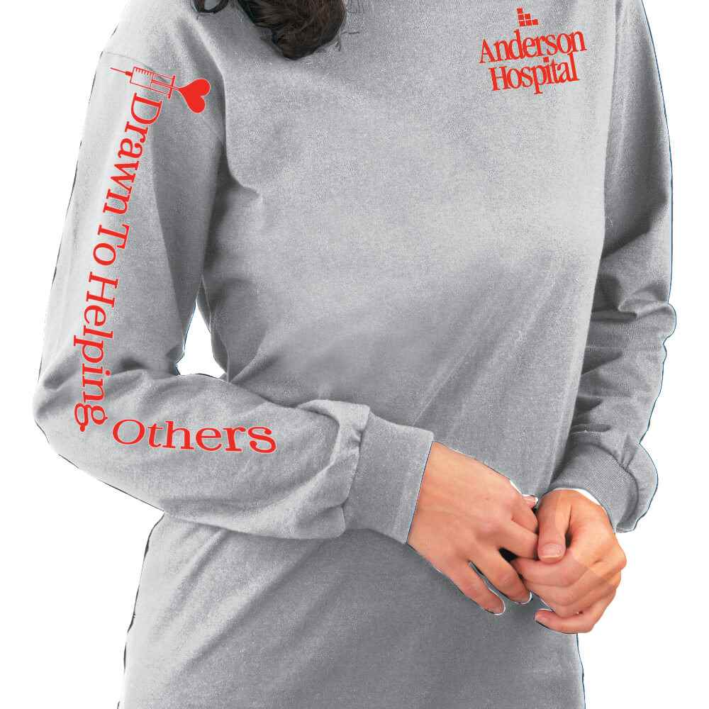 Drawn To Helping Others Long-Sleeve Recognition T-Shirt - Personalization Available