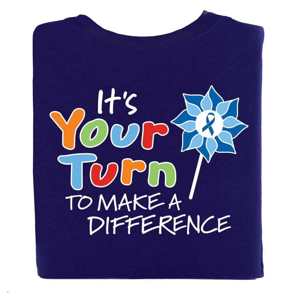 It's Your Turn To Make A Difference 2-Sided T-Shirt - Personalized