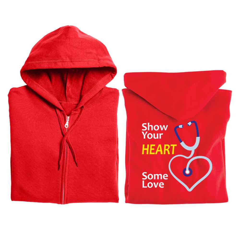 Show Your Heart Some Love Gildan® Full-Zip Hooded Sweatshirt - Personalized