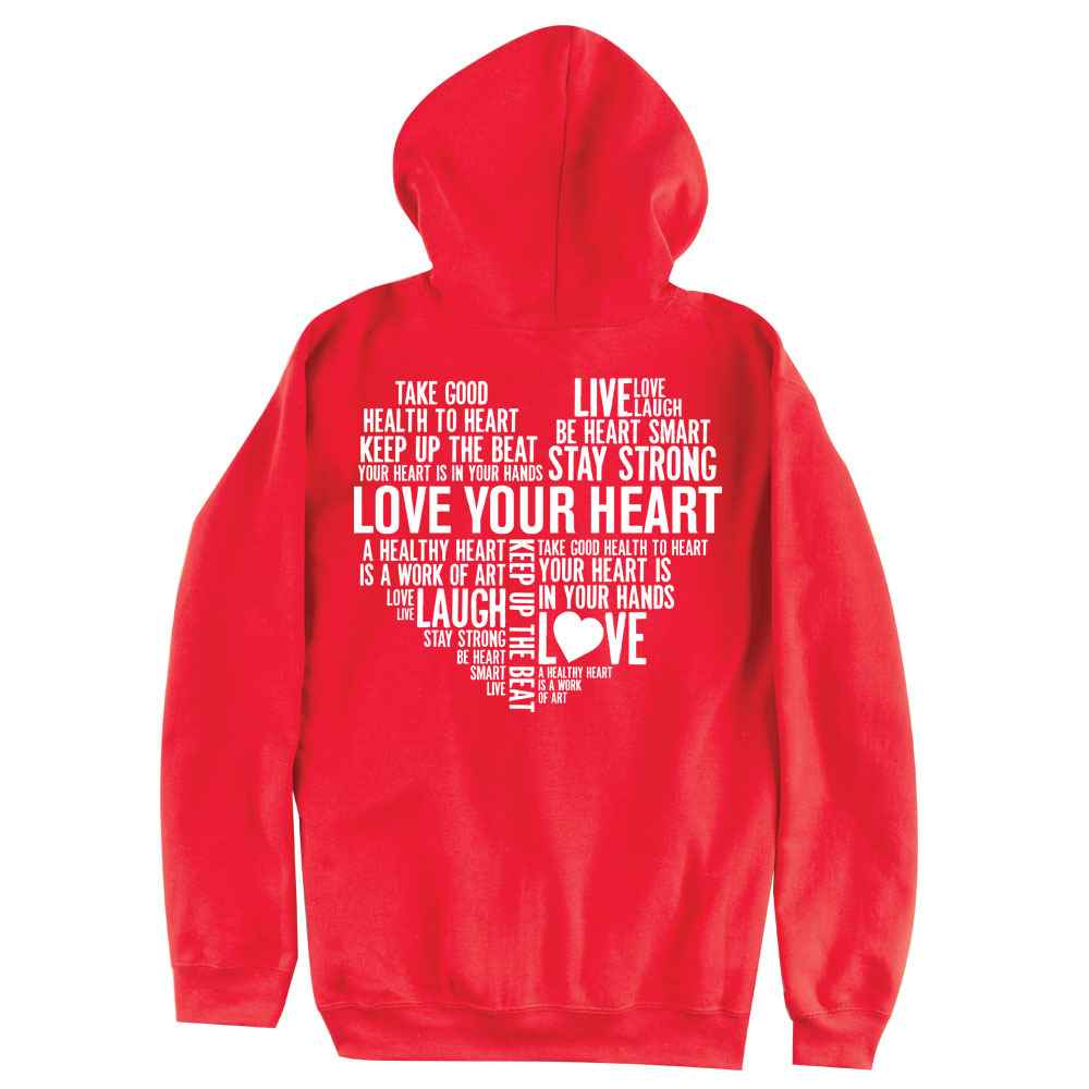 Lover Your Heart Gildan Heavy Blend ™ 8-oz. 50/50 Full-Zip Hood