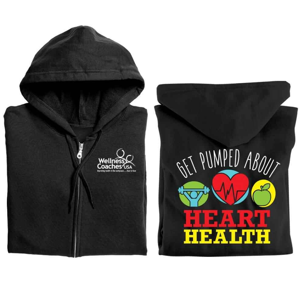 Get Pumped About Heart Health Awareness Gildan® Full-Zip Hooded Sweatshirt - Personalized