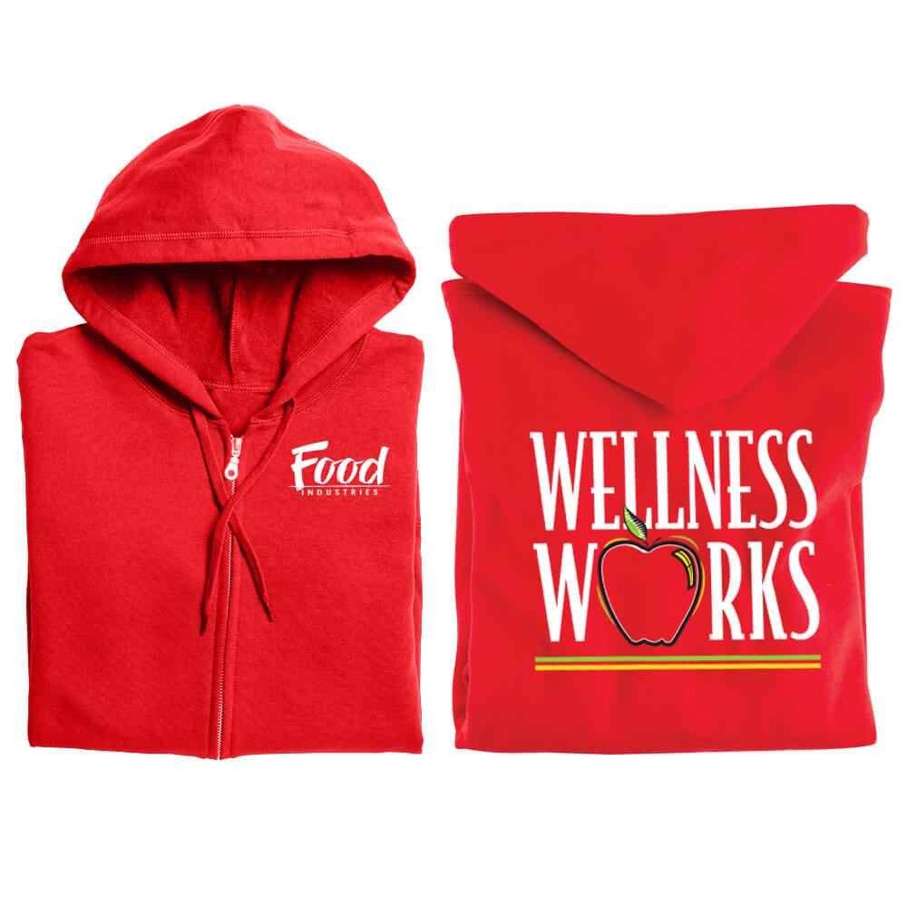 Wellness Works Awareness Gildan® 2-Sided Full-Zip Hooded Sweatshirt - Personalized