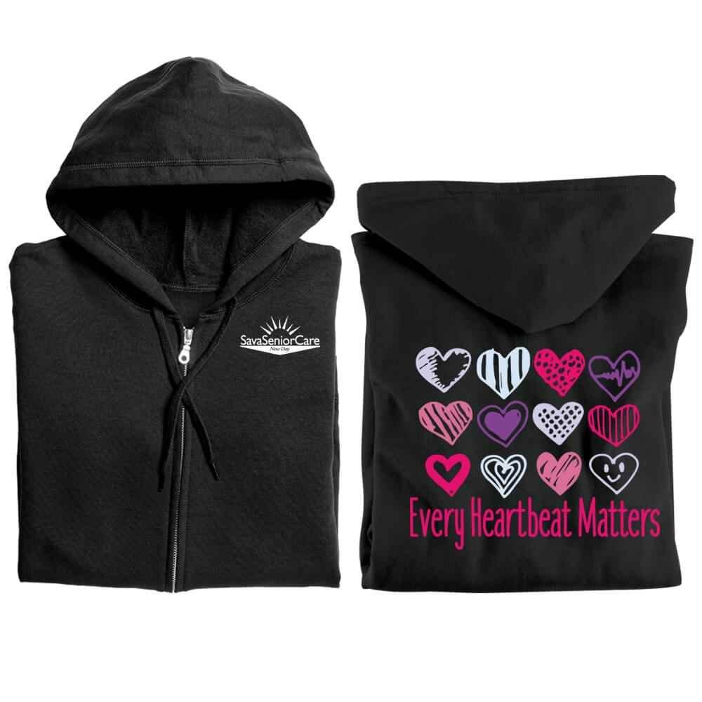 Every Heartbeat Matters Gildan® Full-Zip Hooded Sweatshirt - Personalized