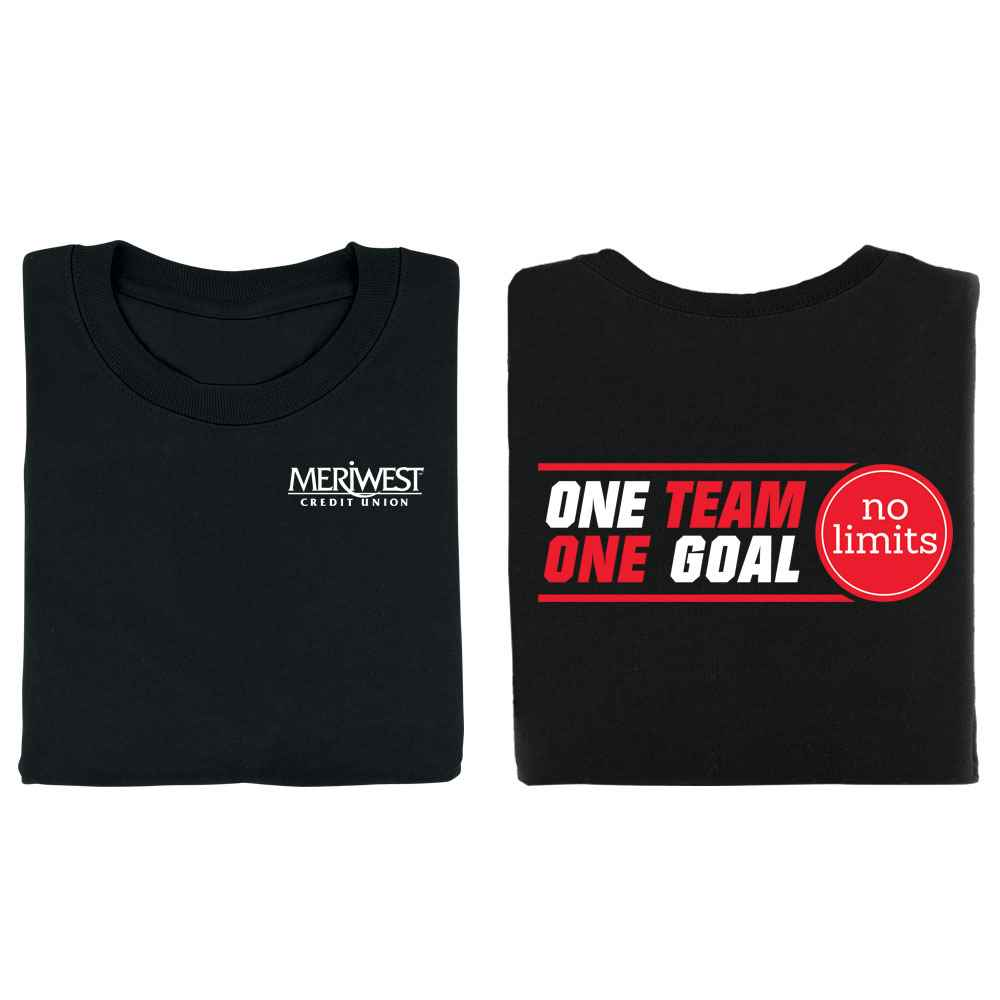 One Team, One Goal, No Limits 2-Sided T-Shirt - Personalization Available