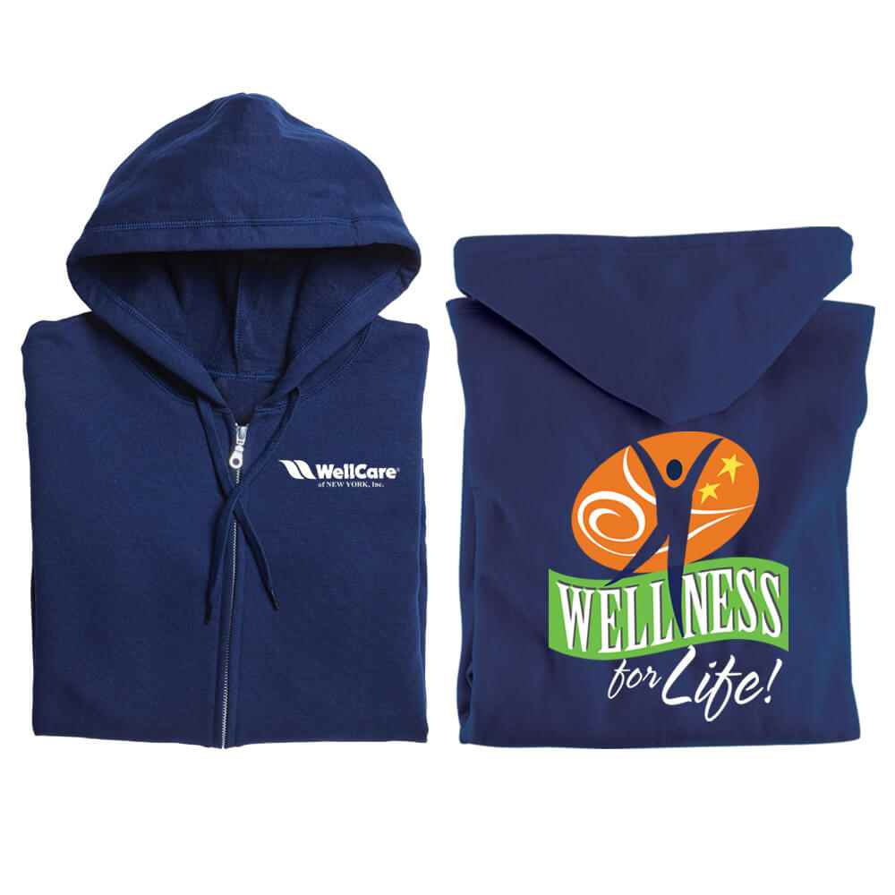 Wellness for Life! Gildan® 2-Sided Full-Zip Hooded Sweatshirt - Personalization Available