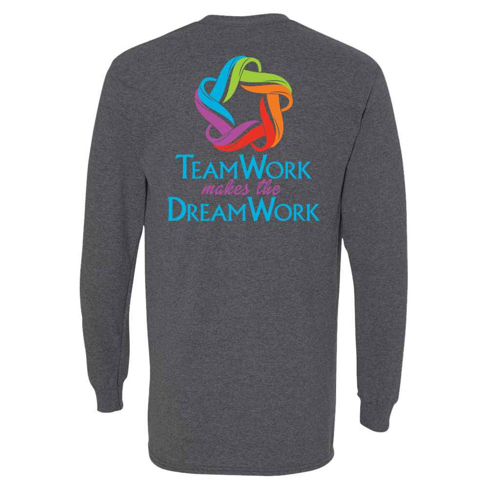 Teamwork Makes The Dreamwork Two-Sided Long Sleeve T-Shirt - Personalized