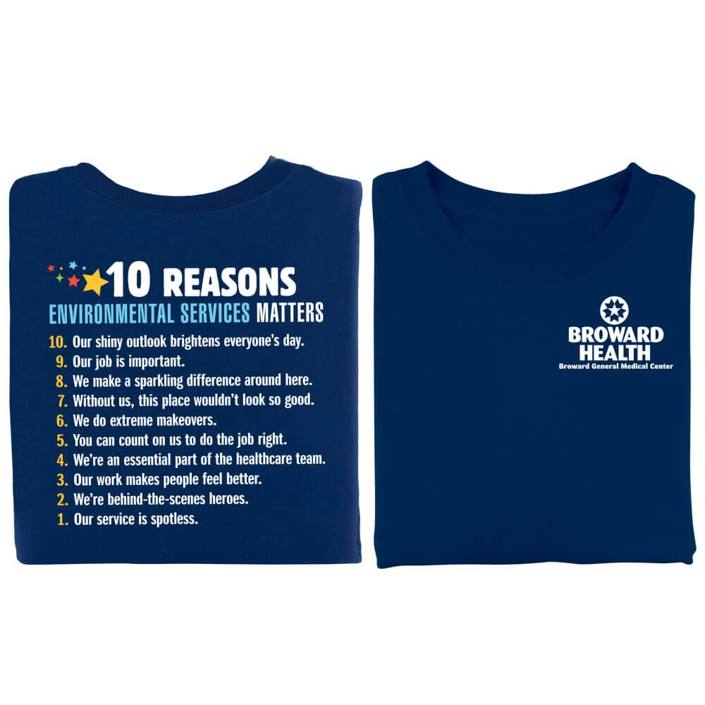 10 Reasons Environmental Services Matter Positive 2-Sided T-Shirt - Personalized