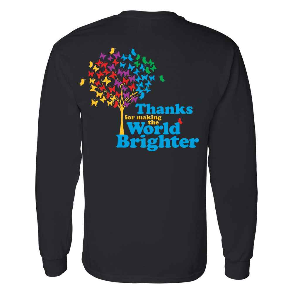 Thanks For Making The World Brighter Two-Sided Long Sleeve T-Shirt - Personalized