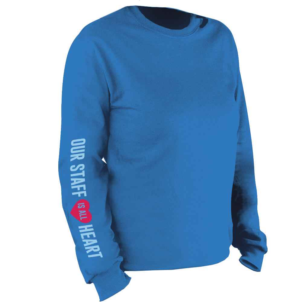 Our Staff Is All Heart Long Sleeve Recognition T-Shirt - Personalized