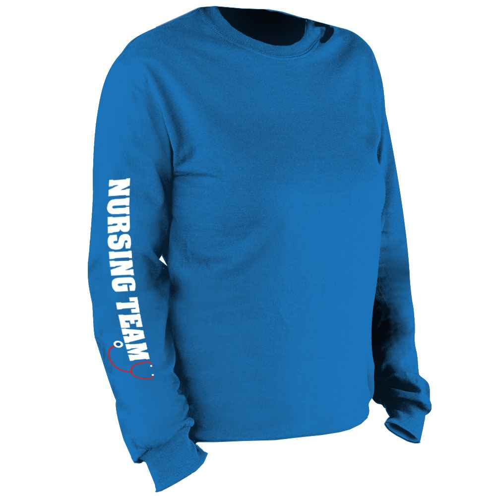 Nursing Team Long Sleeve Recognition T-Shirt - Personalization Available