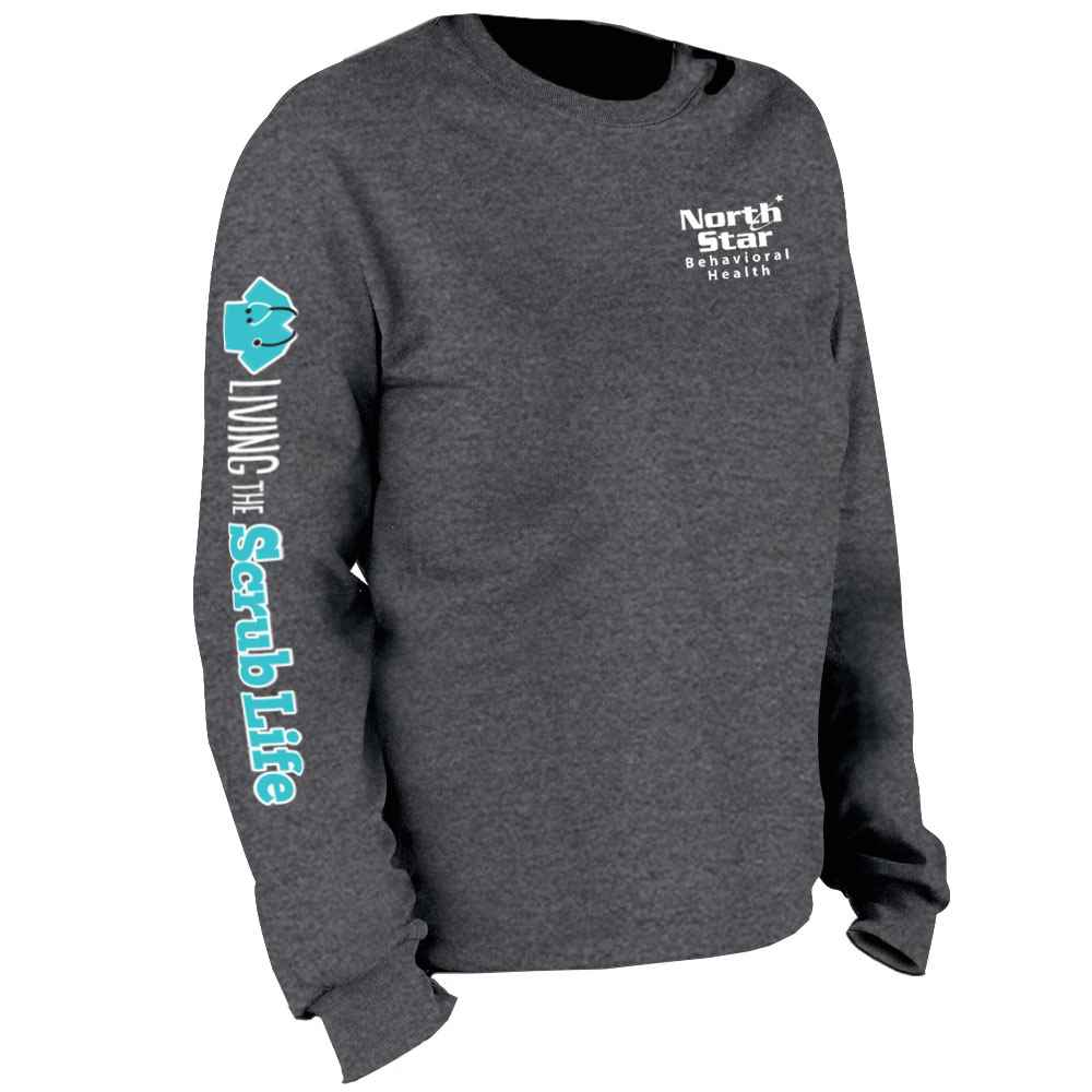 Living The Scrub Life Long Sleeve Recognition T-Shirt - Personalized
