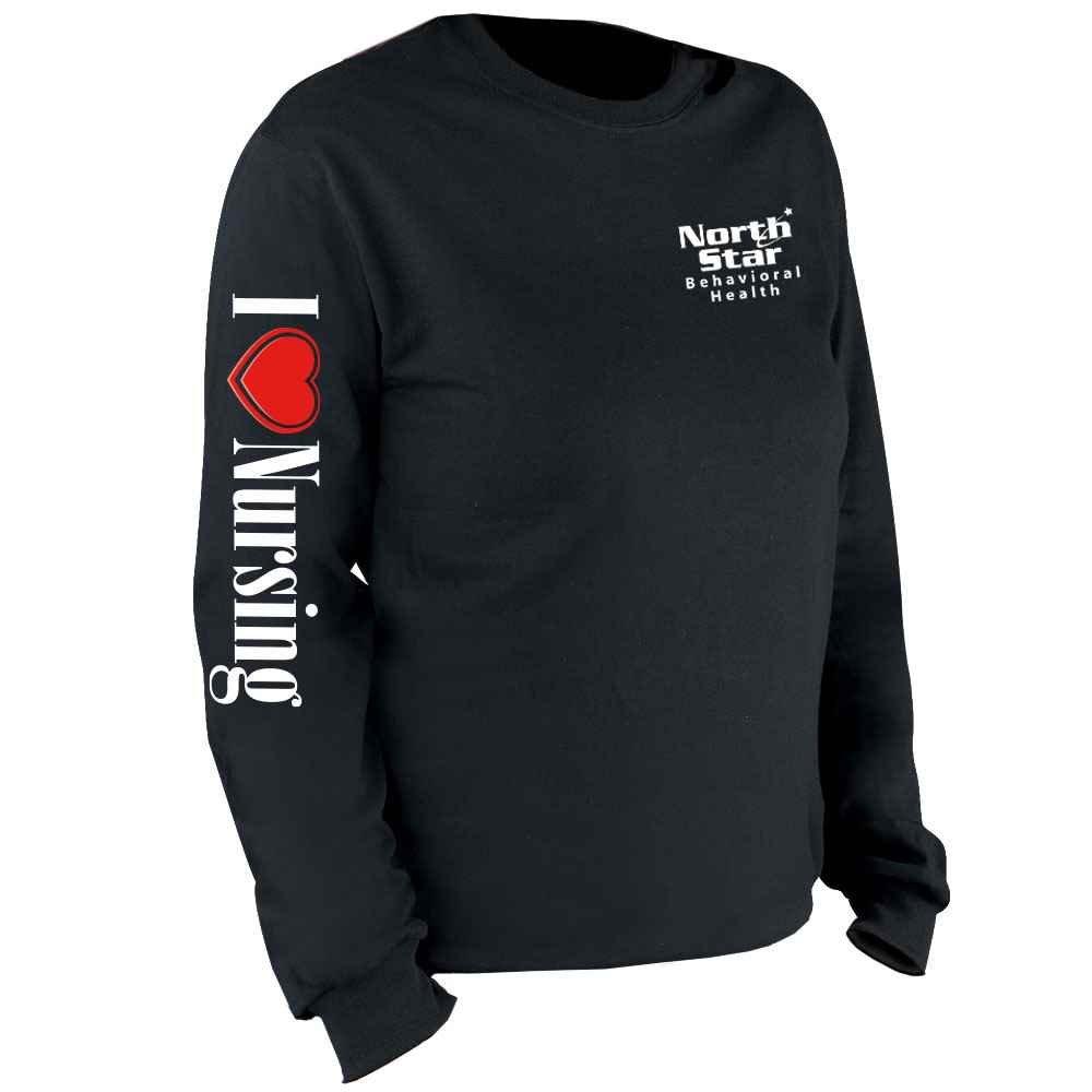 I (Heart) Nursing Long Sleeve Recognition T-Shirt