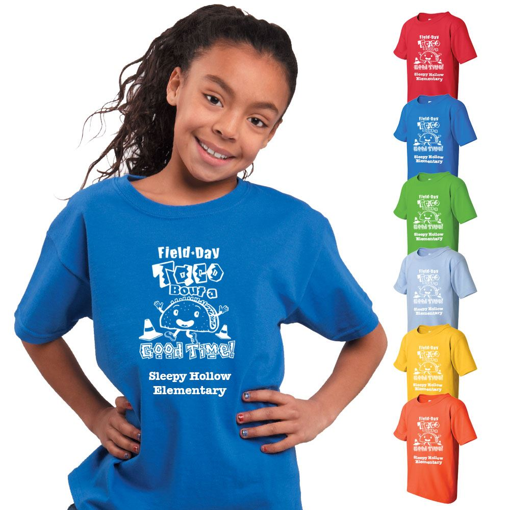 Field Day Youth 100% Cotton Colorful T-Shirt - Personalization Available